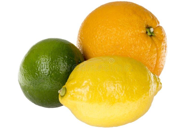 健康五颜六色的柑橘水果橙色石灰柠檬 图库摄影