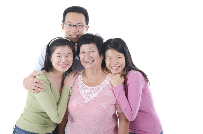 健康亚洲家庭 图库摄影