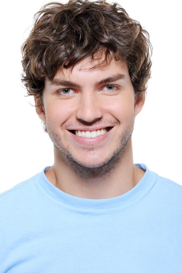 健康人纵向微笑的牙 库存照片