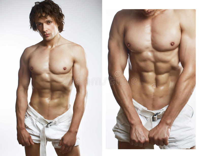 健康人肌肉年轻人 库存图片