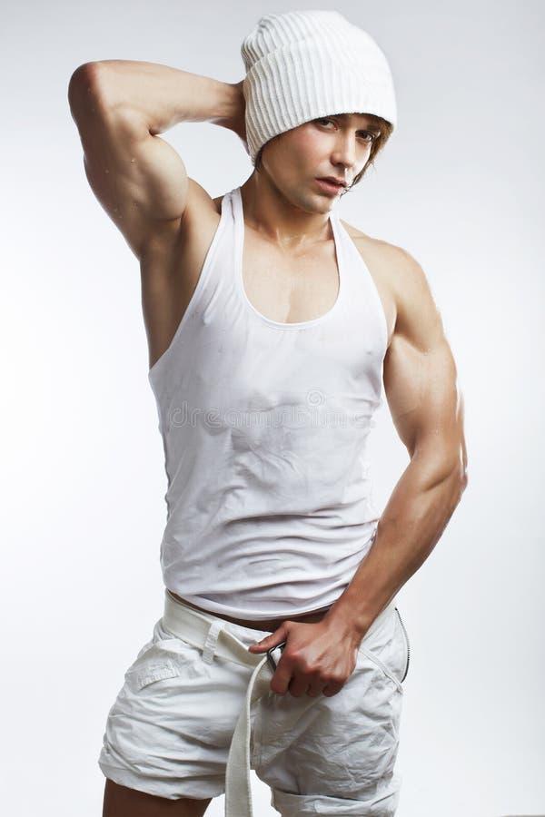 健康人肌肉年轻人 图库摄影