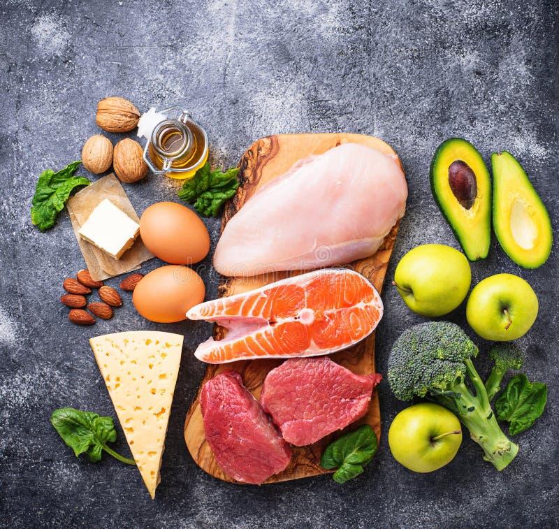 健康低气化器产品 能转化为酮的饮食 免版税库存照片
