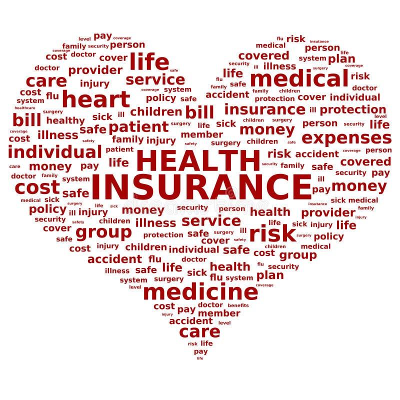 健康保险。 向量例证