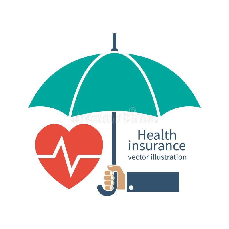 健康保险剪影象 库存例证
