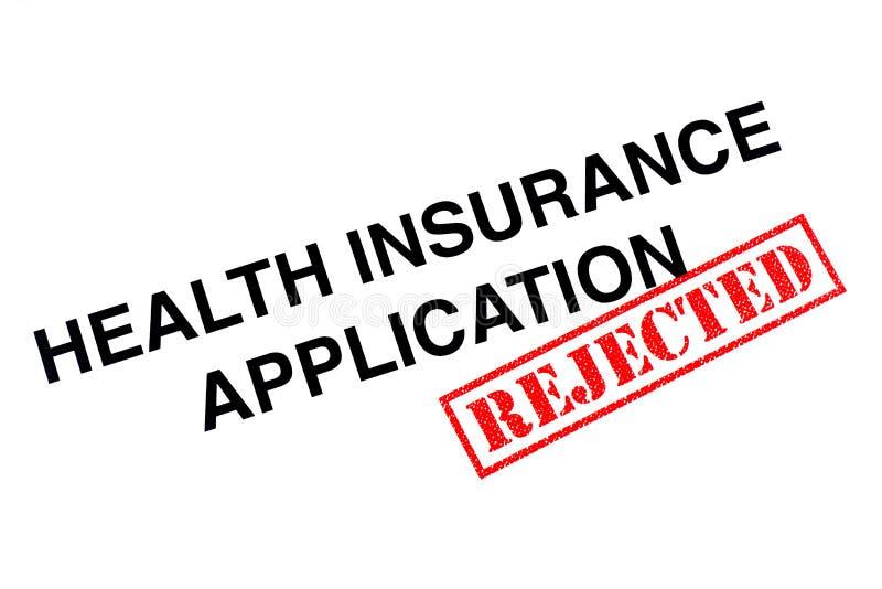 健康保险应用 库存照片