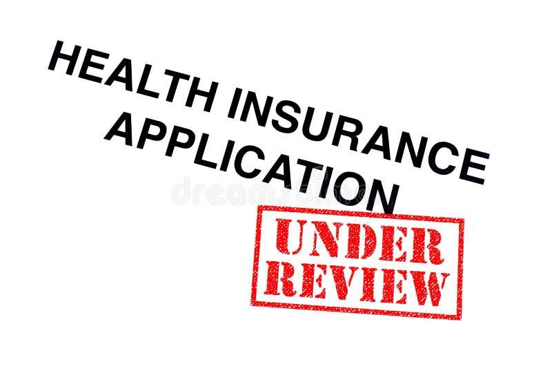健康保险应用 免版税库存照片