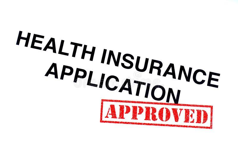 健康保险应用 免版税库存图片
