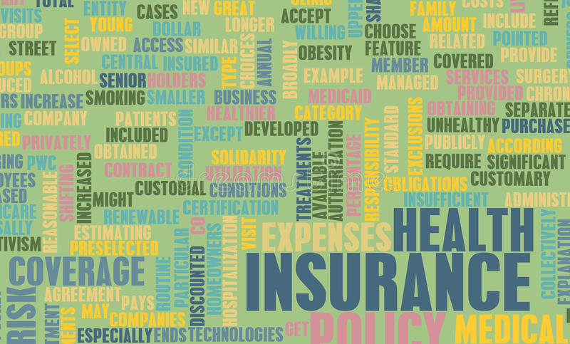健康保险 库存例证