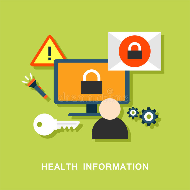 健康信息向量 向量例证