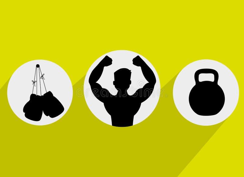 健康健身生活方式 向量例证