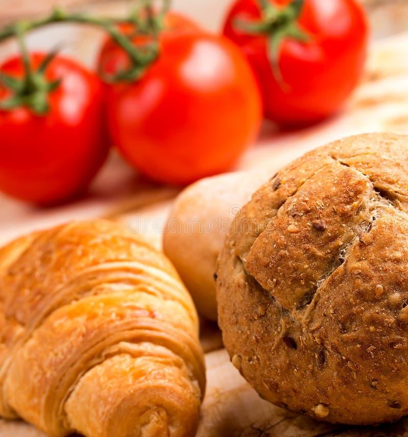 健康劳斯意味粮食和面包 免版税库存图片