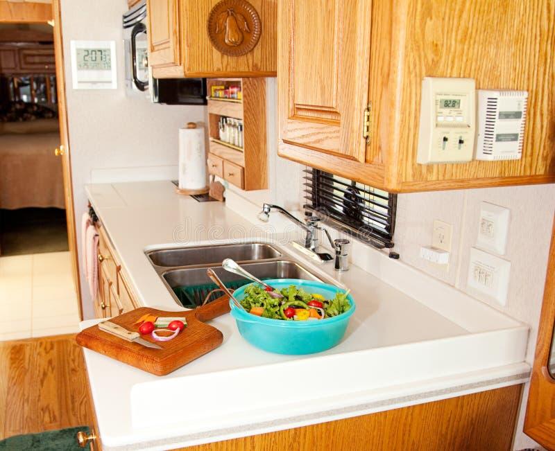 健康厨房午餐rv 库存照片
