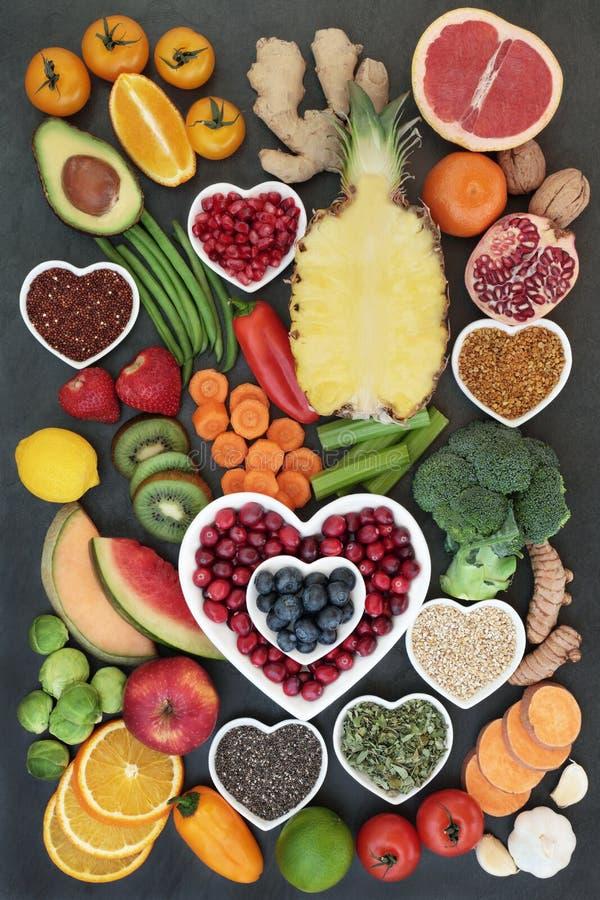 健康吃的健康食品 免版税库存图片