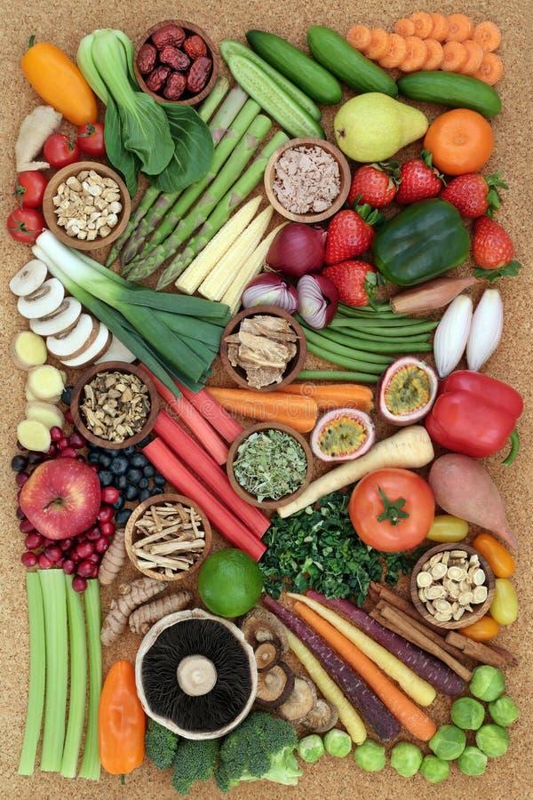 健康吃的超级食物 免版税图库摄影