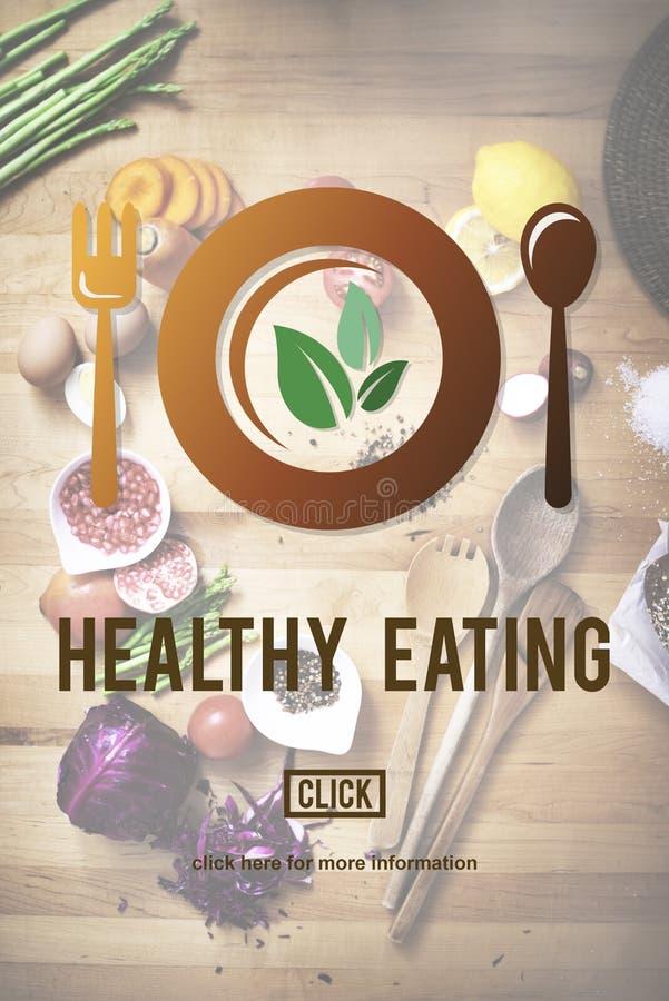 健康吃素食医疗保健健康网站概念 免版税库存图片