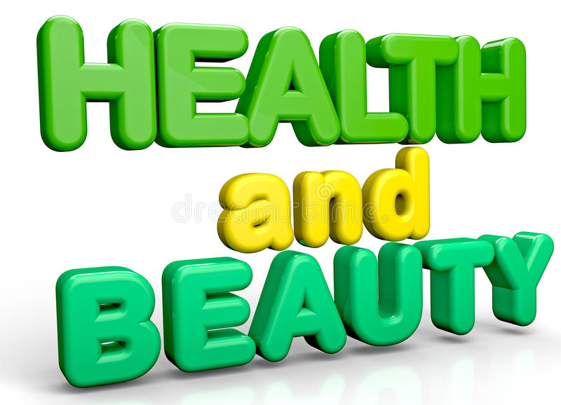 健康和秀丽 向量例证