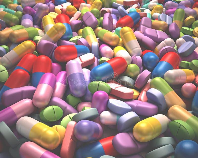 健康和药物 皇族释放例证