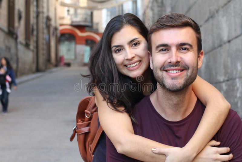 健康夫妇的浪漫图片 免版税图库摄影