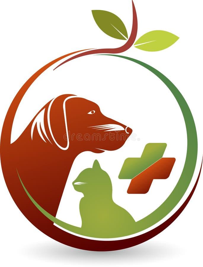 健康宠物照管商标 向量例证