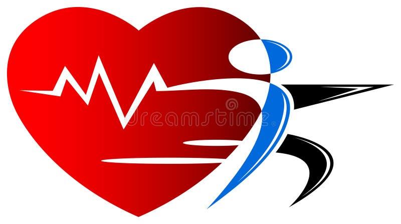 健康徽标 向量例证
