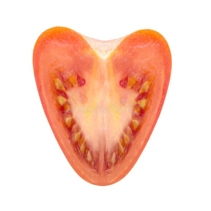 健康心形的蕃茄 关键营养素是钾 免版税库存照片