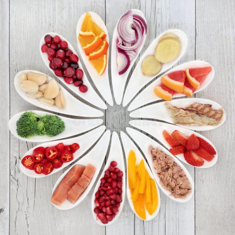 健康心脏的健康食品 免版税库存图片