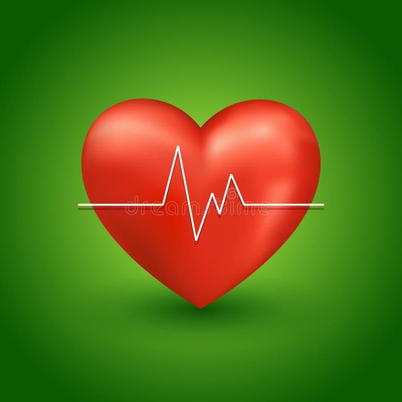 健康心跳 库存例证