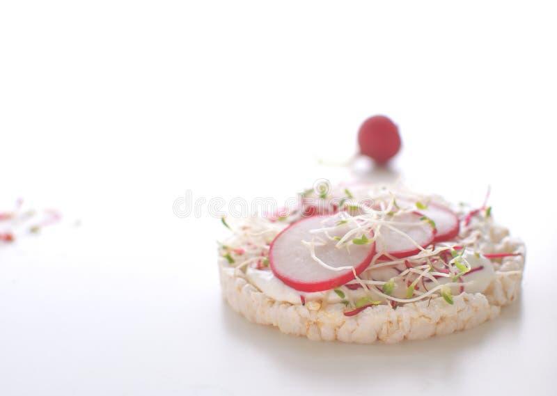 健康快餐概念米酥脆面包三明治 库存图片