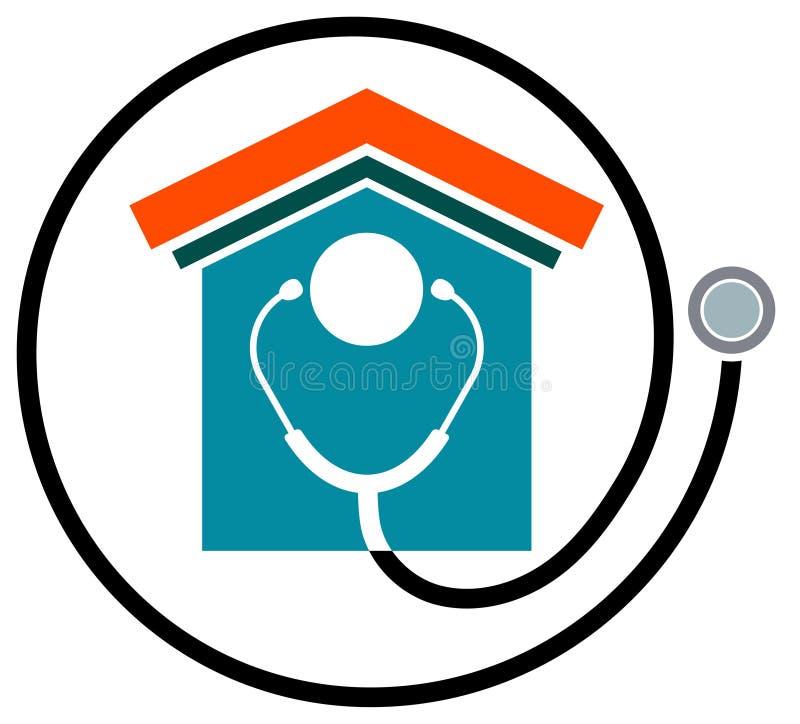 健康房子 向量例证