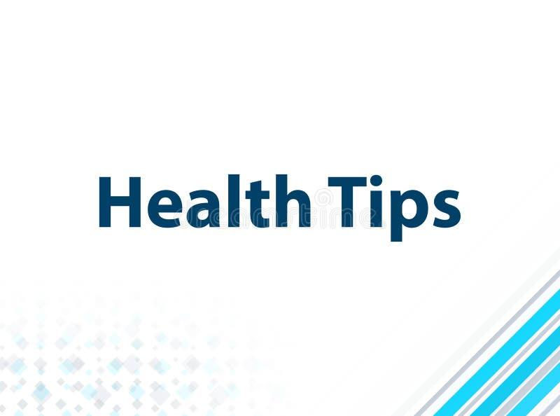 健康技巧现代平的设计蓝色抽象背景 库存例证