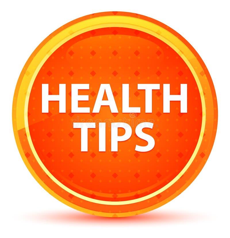 健康技巧自然橙色圆的按钮 皇族释放例证