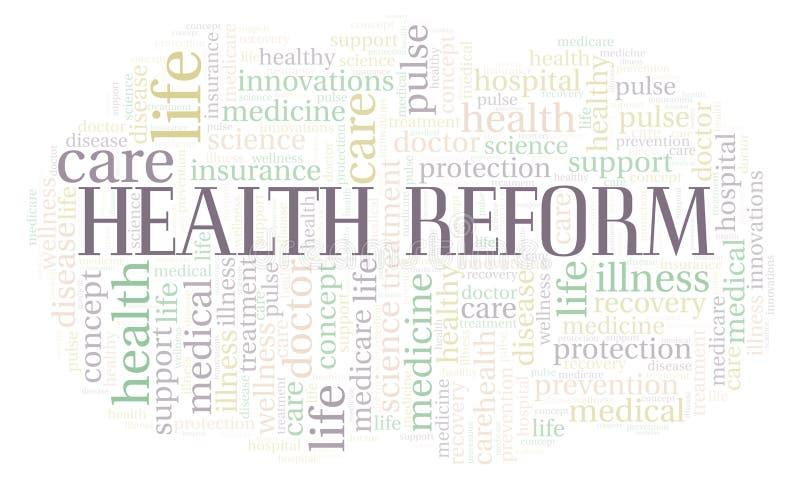 健康改革词云彩 向量例证