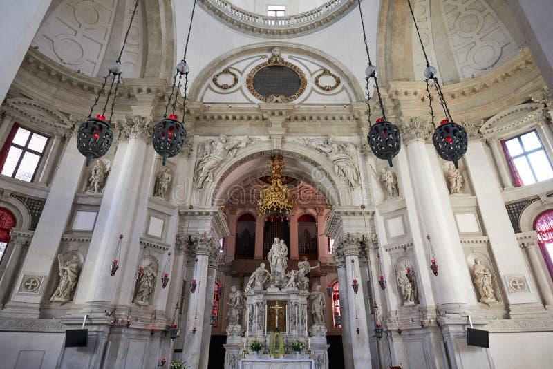 健康教会内部圣玛丽在威尼斯,意大利 图库摄影