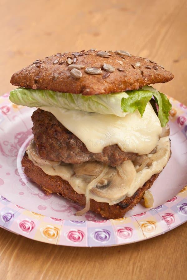 健康新鲜的汉堡 库存图片