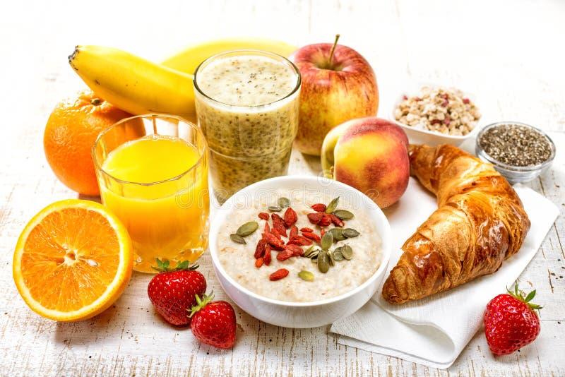 健康早餐成份 免版税库存照片