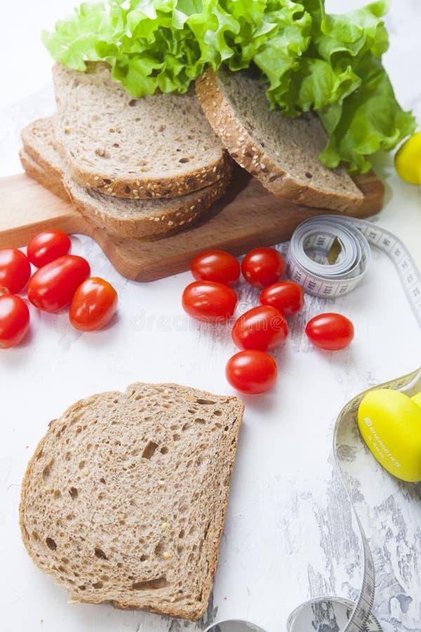 健康早餐概念 免版税库存照片