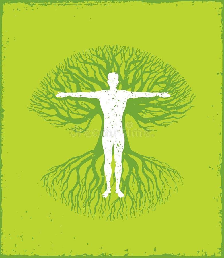 健康是您和您的身体之间的一个关系 富启示性的创造性的刺激行情模板 传染媒介印刷术 向量例证
