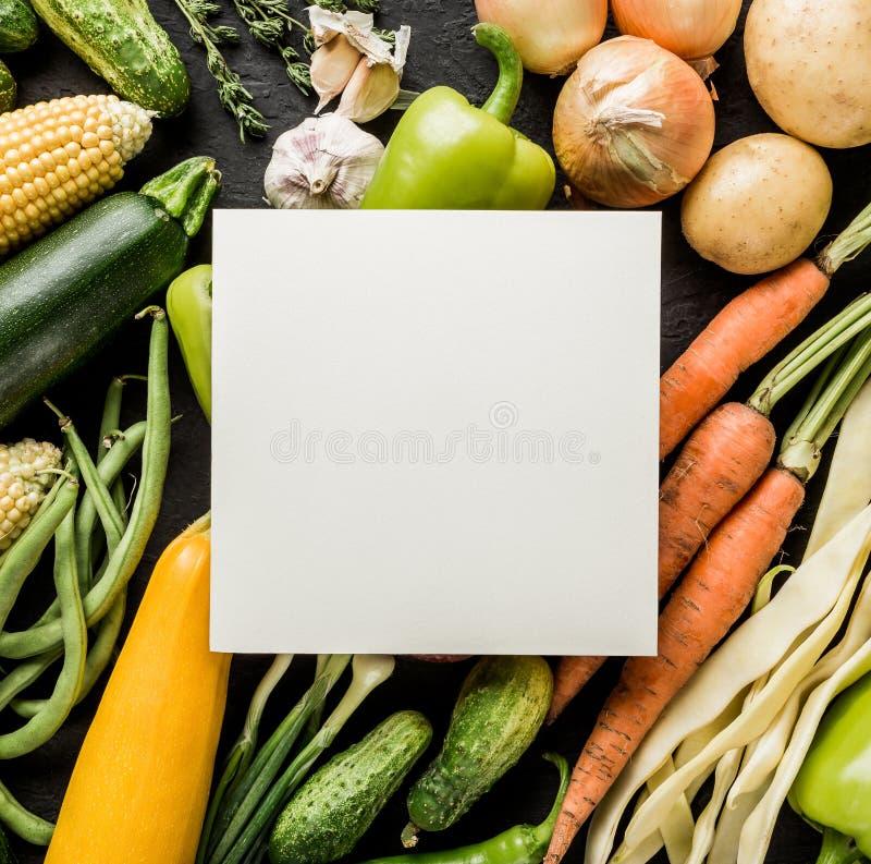 健康未加工的夏天素食主义者菜和草本,红萝卜,玉米,胡椒,土豆,夏南瓜 免版税库存图片