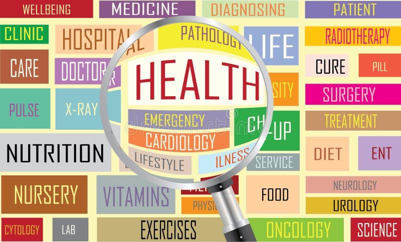 健康标记云彩 向量例证