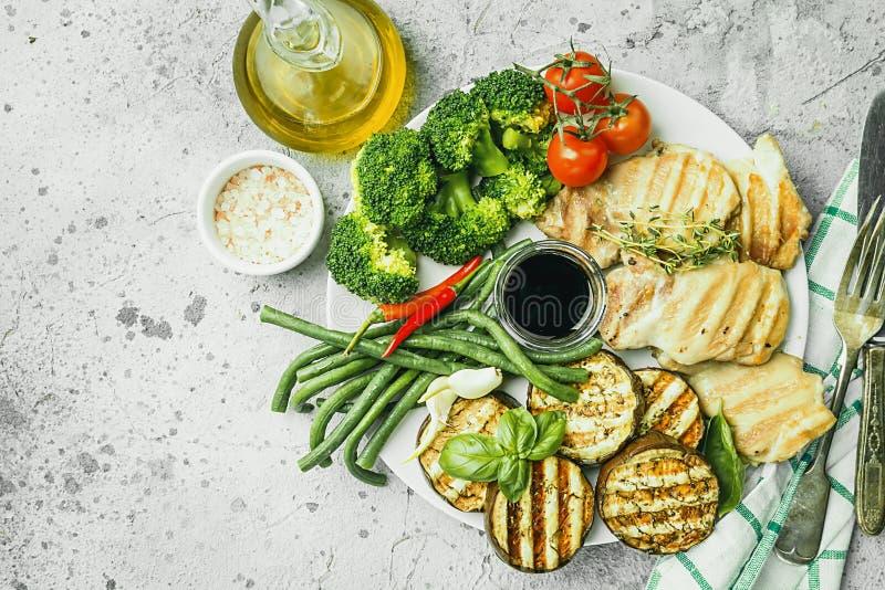 健康格栅食物 库存照片