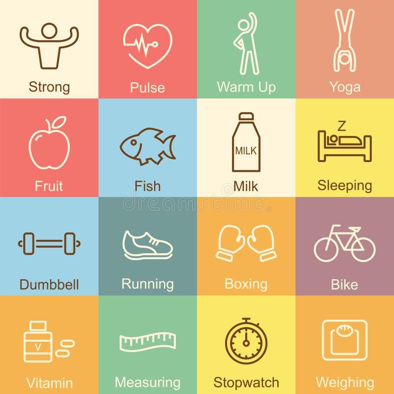 健康概述设计 向量例证