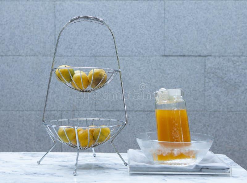 健康汁液桔子 库存图片