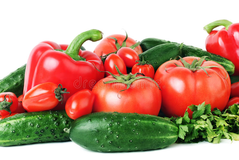 健康沙拉蔬菜 免版税库存图片