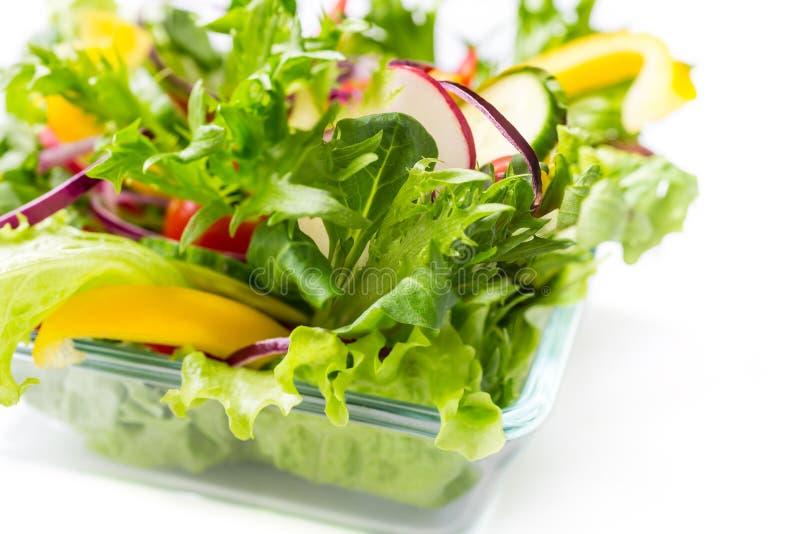健康沙拉蔬菜 免版税图库摄影
