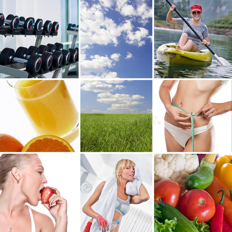 健康混合 库存图片