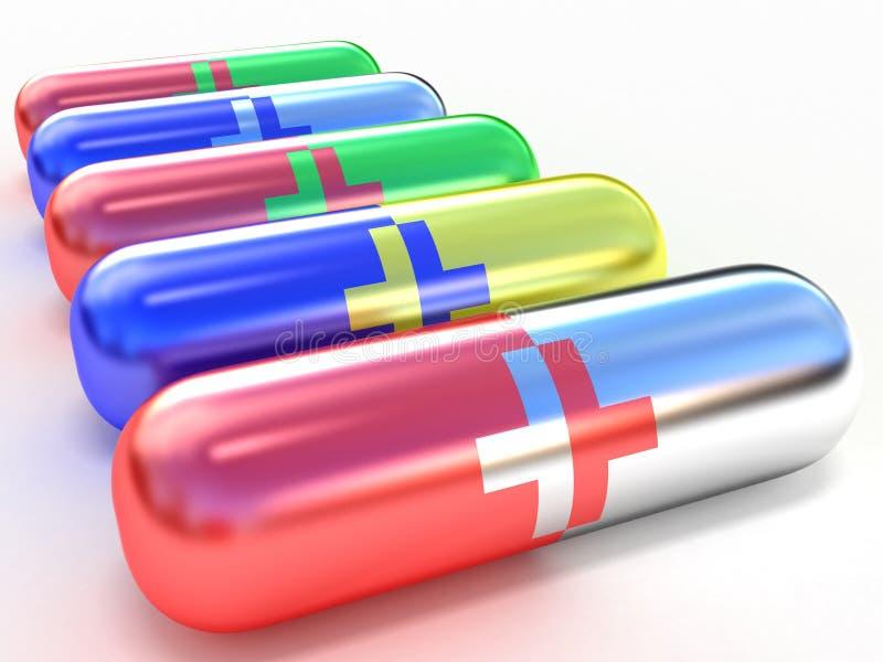 健康片剂 向量例证