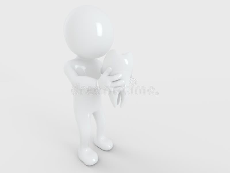健康牙由怀特曼3d翻译握 皇族释放例证