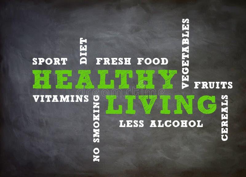 健康生存概念 向量例证