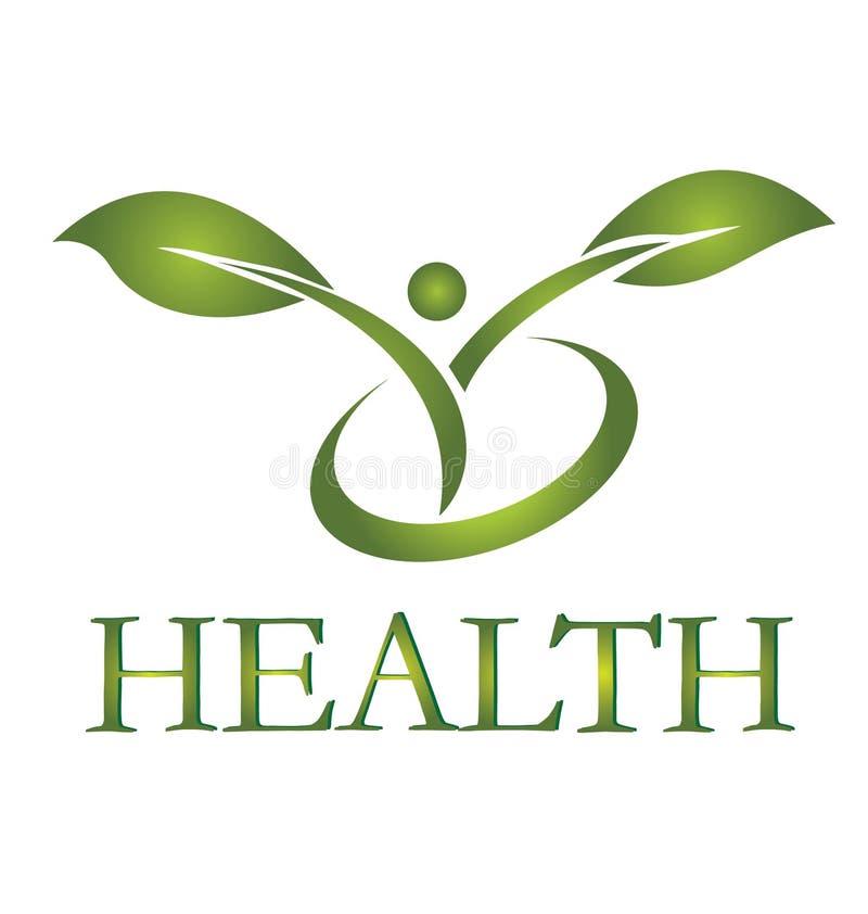 健康生活徽标 库存例证