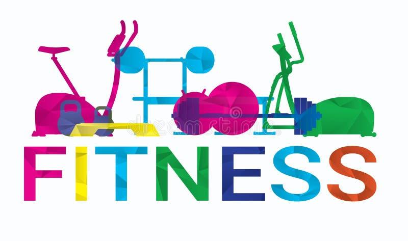 健康生活方式例证概念 节食,健身 皇族释放例证